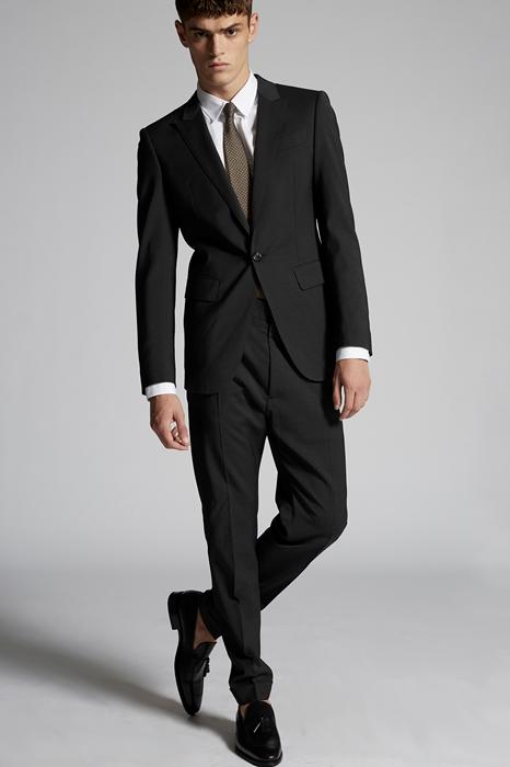 DSQUARED2 Men Suit Steel grey Size 44 54% Polyester 44% Wool 2% Elastane