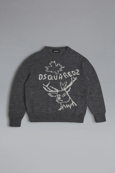 DSQUARED2 Men Sweater Grey Size 16 50% Acrylic 30% Wool 20% Alpaca
