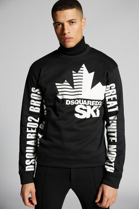 DSQUARED2 Men Sweatshirt Black Size XL 100% Polyester