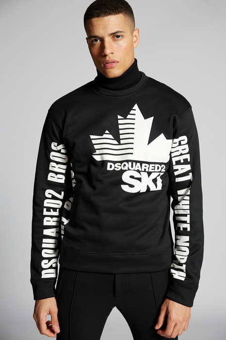 DSQUARED2 Men Sweatshirt Black Size XS 100% Polyester