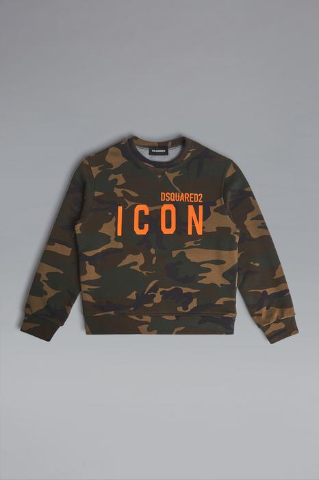 DSQUARED2 Men Sweatshirt Cocoa Size 12 100% Cotton