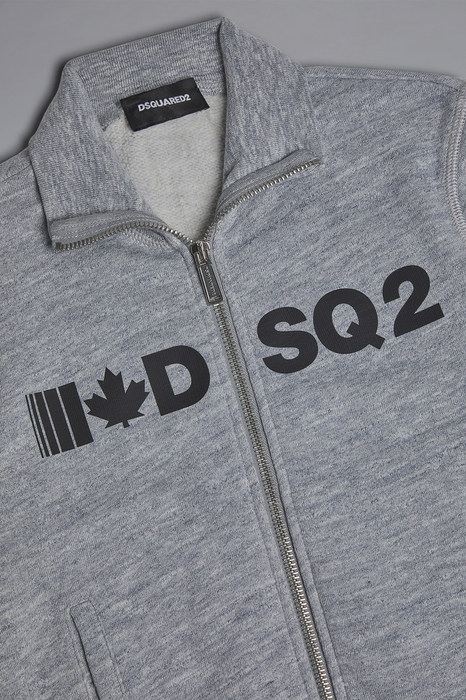 DSQUARED2 Men Sweatshirt Grey Size 14 92% Cotton 8% Viscose