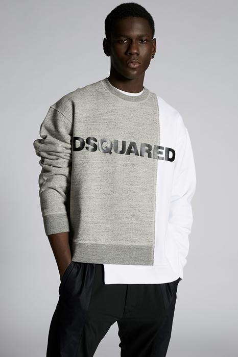 DSQUARED2 Men Sweatshirt Grey Size S 100% Cotton