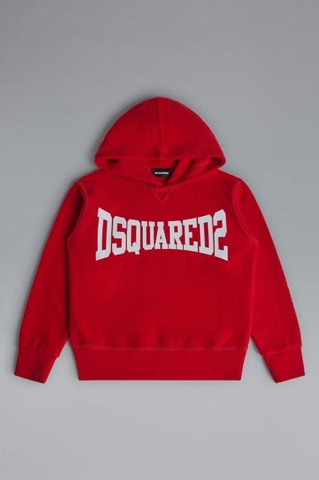 DSQUARED2 Men Sweatshirt Red Size 12 100% Cotton
