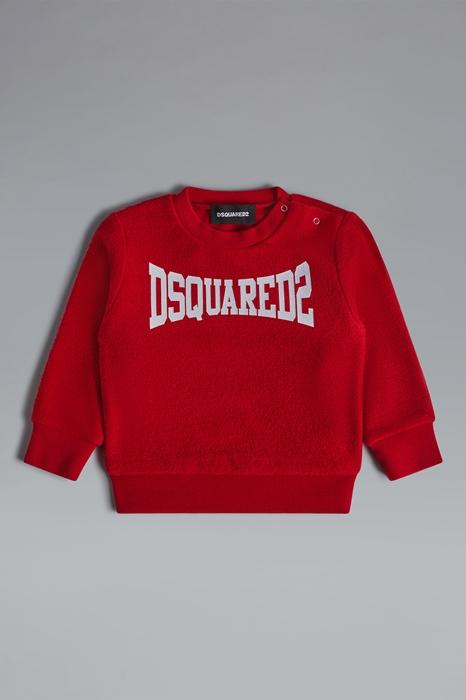DSQUARED2 Men Sweatshirt Red Size 15-18 100% Cotton