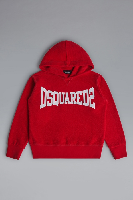 DSQUARED2 Men Sweatshirt Red Size 16 100% Cotton