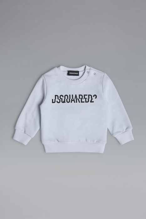 DSQUARED2 Men Sweatshirt White Size 15-18 100% Cotton