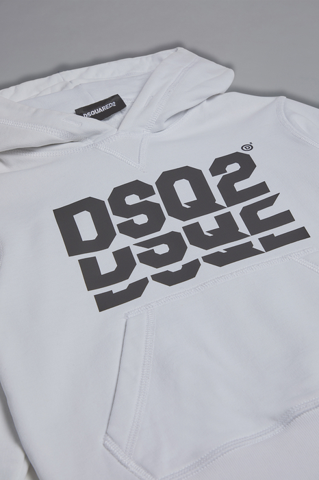 DSQUARED2 Men Sweatshirt White Size 6 100% Cotton