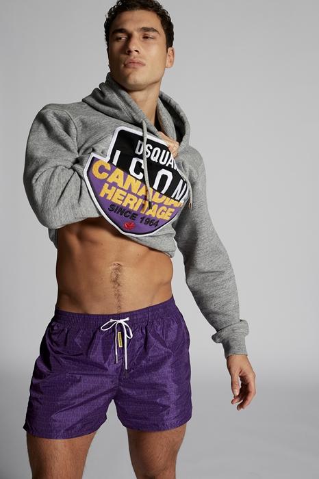 DSQUARED2 Men Swimming trunks Purple Size 26 100% Polyamide
