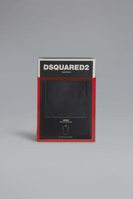 DSQUARED2 Men T-shirt Black Size M 95% Cotton 5% Elastane