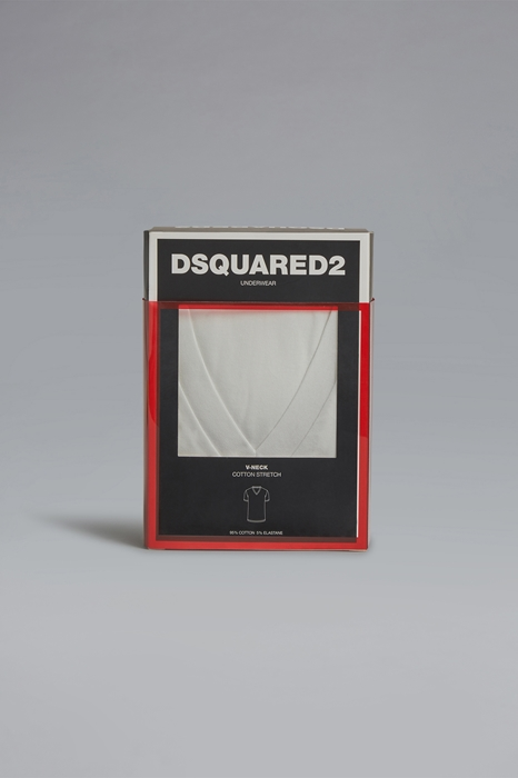 DSQUARED2 Men T-shirt White Size S 95% Cotton 5% Elastane