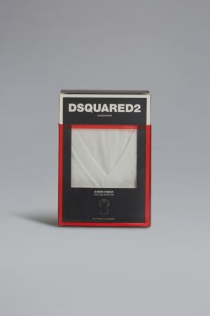 DSQUARED2 Men T-shirt White Size XL 95% Cotton 5% Elastane