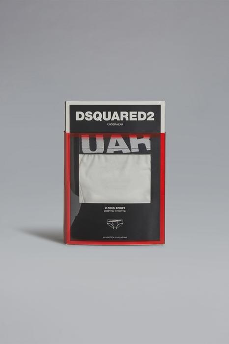 DSQUARED2 Men Twinpack brief White Size M 95% Cotton 5% Elastane