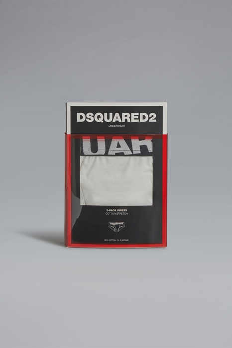 DSQUARED2 Men Twinpack brief White Size XL 95% Cotton 5% Elastane