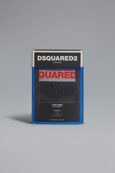 DSQUARED2 Men Twinpack trunk Black Size L 94% Modacrylic 6% Elastane