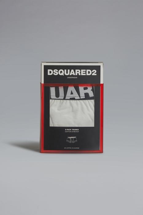 DSQUARED2 Men Twinpack trunk White Size XXL 95% Cotton 5% Elastane