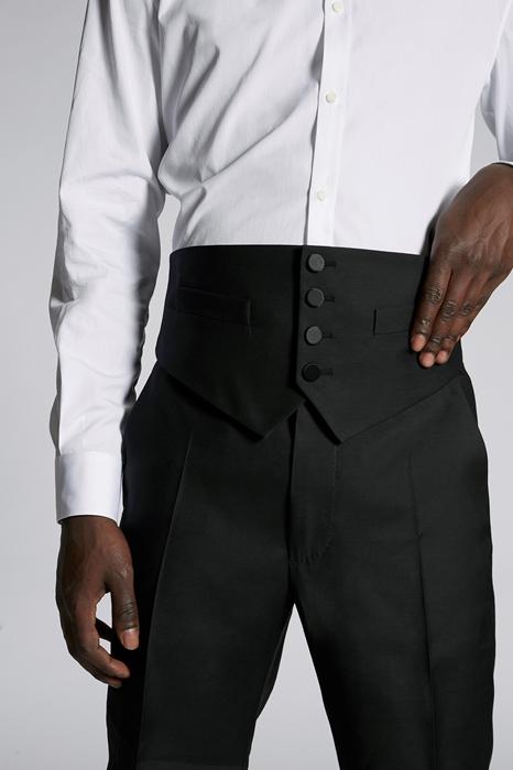 DSQUARED2 Men Vest Black Size 46 65% Virgin Wool 35% Silk