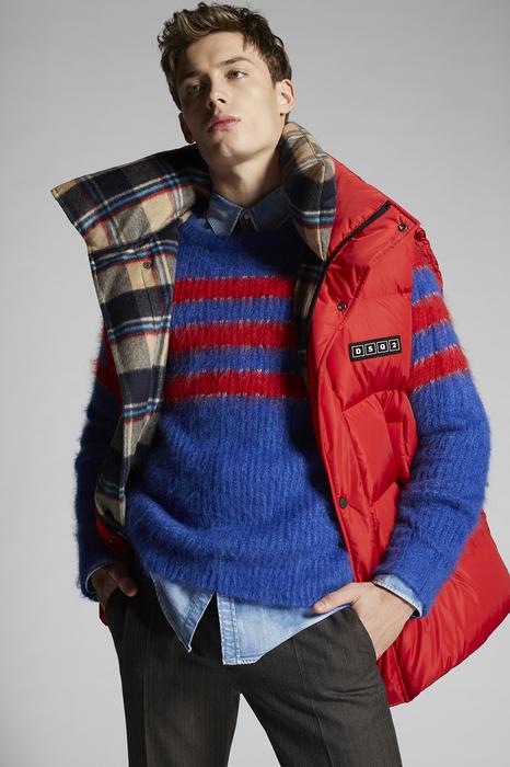 DSQUARED2 Men Vest Red Size 40 100% Polyamide Wool