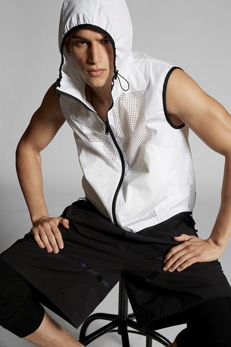 DSQUARED2 Men Vest White Size L 100% Cotton
