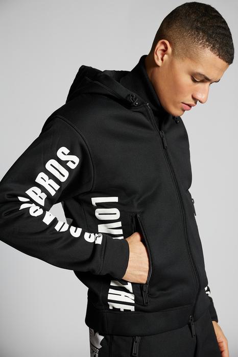 DSQUARED2 Men Zip sweatshirt Black Size M 100% Polyester