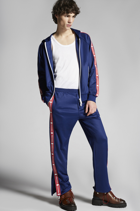 DSQUARED2 Men Zip sweatshirt Blue Size XXL 50% Cotton 50% Polyester