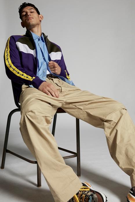 DSQUARED2 Men Zip sweatshirt Purple Size M 55% Polyamide 45% Cotton