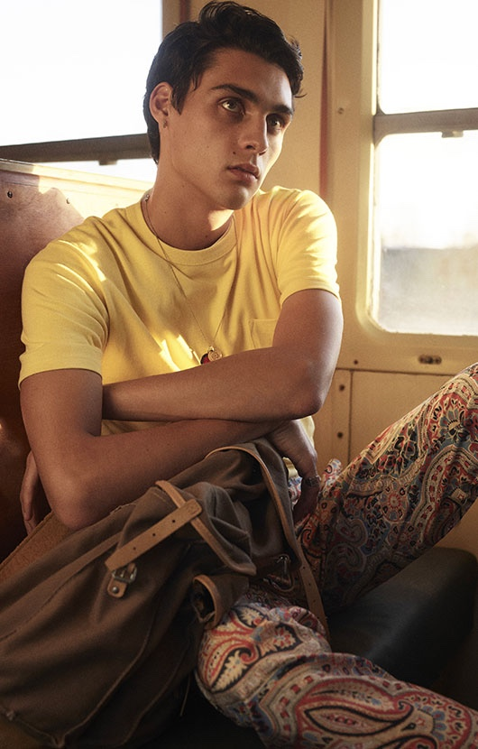 Ludwig is a Modern Wanderer for De Fursac Spring Campaign