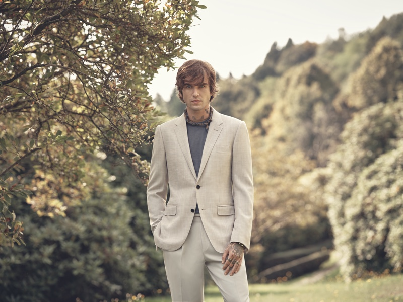 Ermenegildo Zegna enlists Gabriel-Kane Day-Lewis as the star of its spring-summer 2021 campaign.