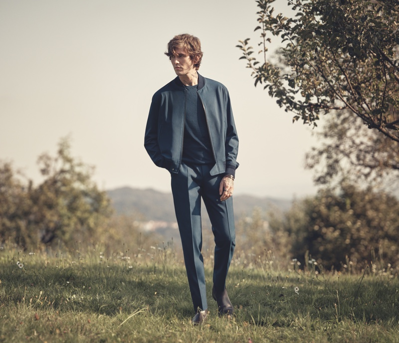 Gabriel-Kane Day-Lewis Connects with Ermenegildo Zegna for Spring Campaign
