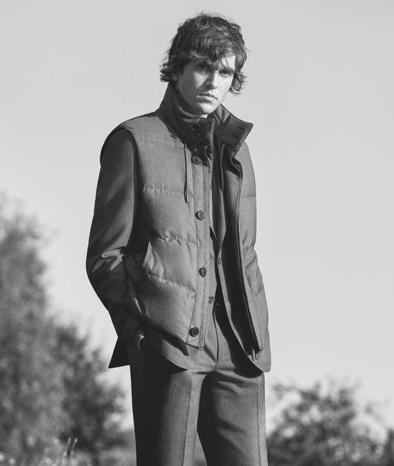 Connecting with Ermenegildo Zegna, Gabriel-Kane Day-Lewis fronts the brand's spring-summer 2021 campaign.