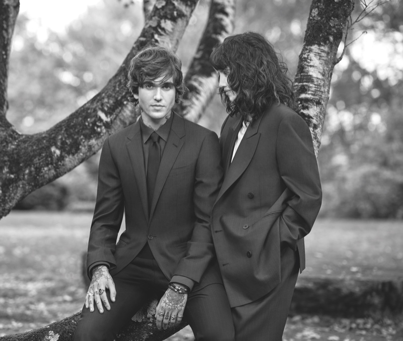 Gabriel-Kane Day-Lewis and his mother, actress Isabelle Adjani appear in Ermenegildo Zegna's spring-summer 2021 campaign.