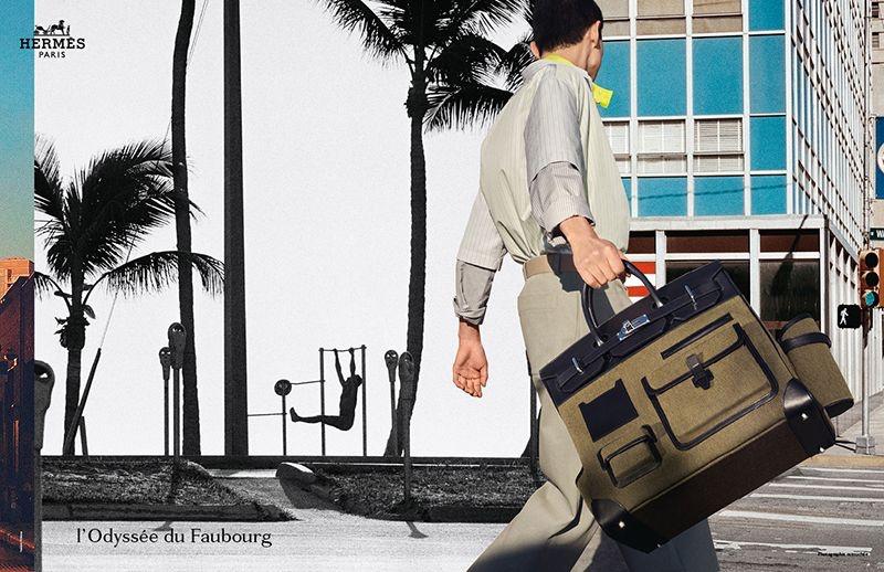 Nathaniel Goldberg photographs model Sang Woo Kim for Hermès's spring-summer 2021 men's campaign.