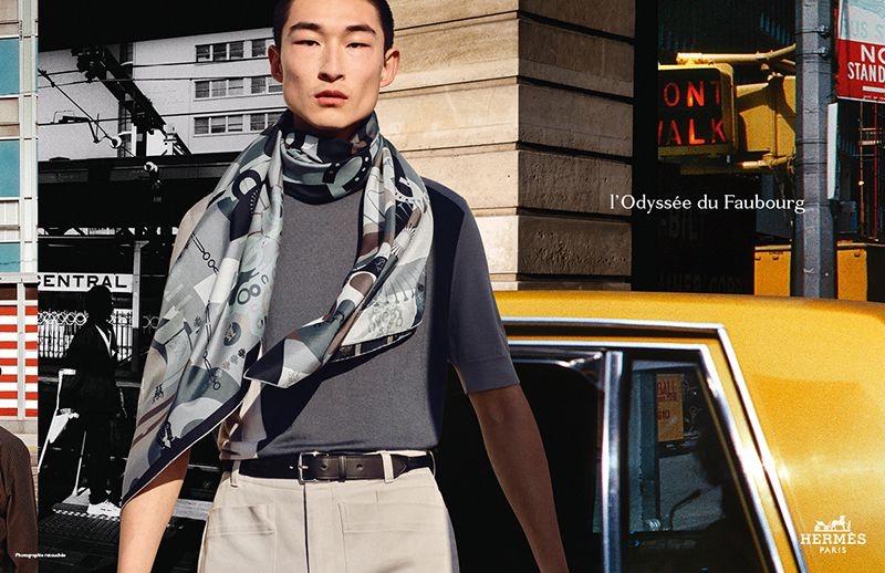 Sang Woo Kim stars in Hermès's spring-summer 2021 men's campaign.