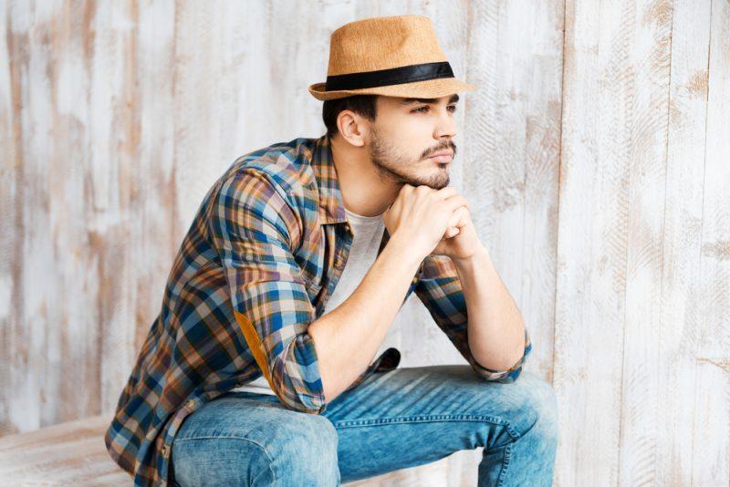 Male Model Wearing Fedora