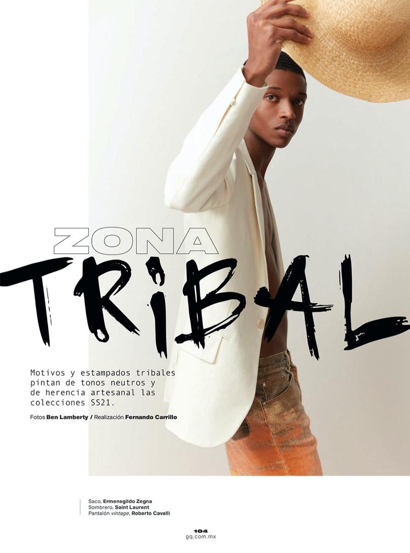 Malik Sports Relaxed Shapes & Tribal Prints for GQ México