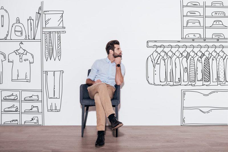 Man Thinking of Perfect Closet