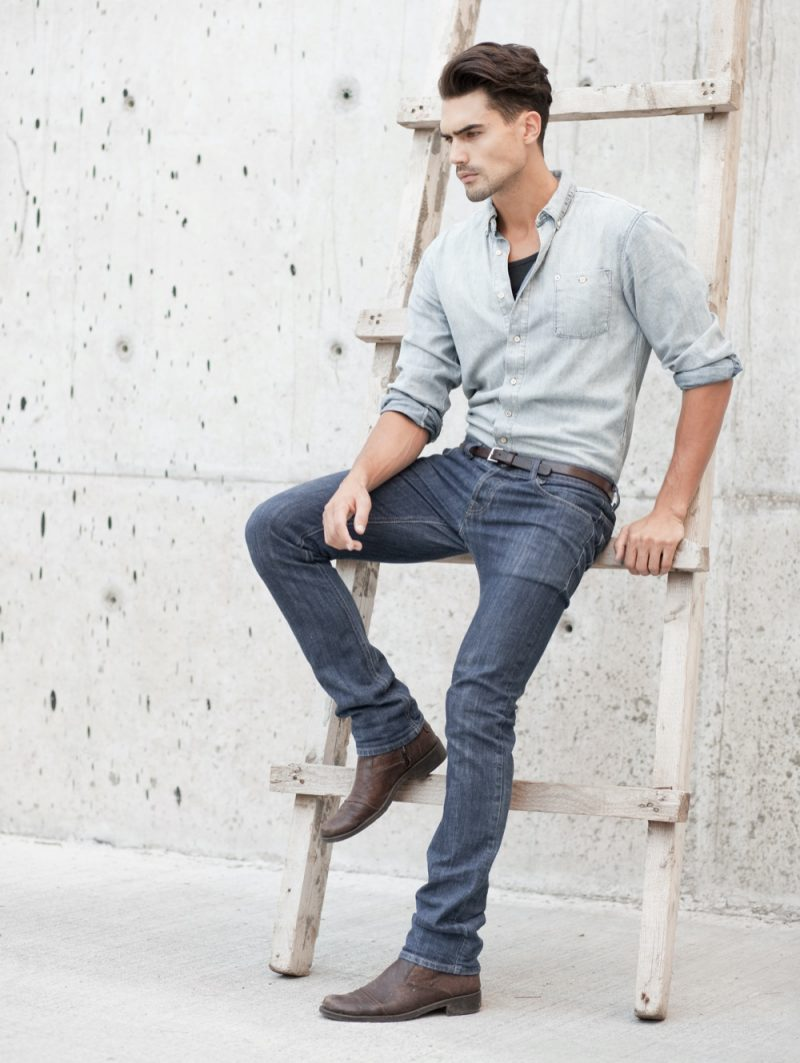 Man in Denim Jeans