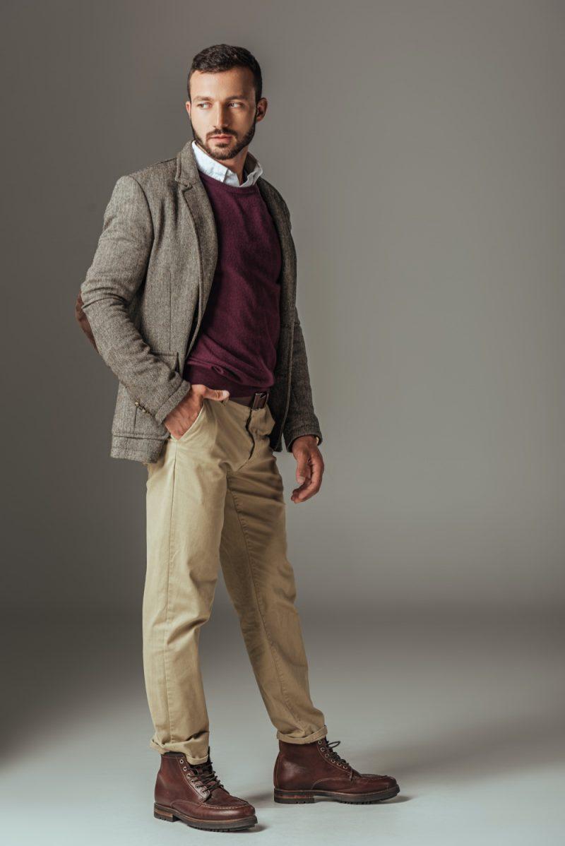 Man in Tweed Jacket