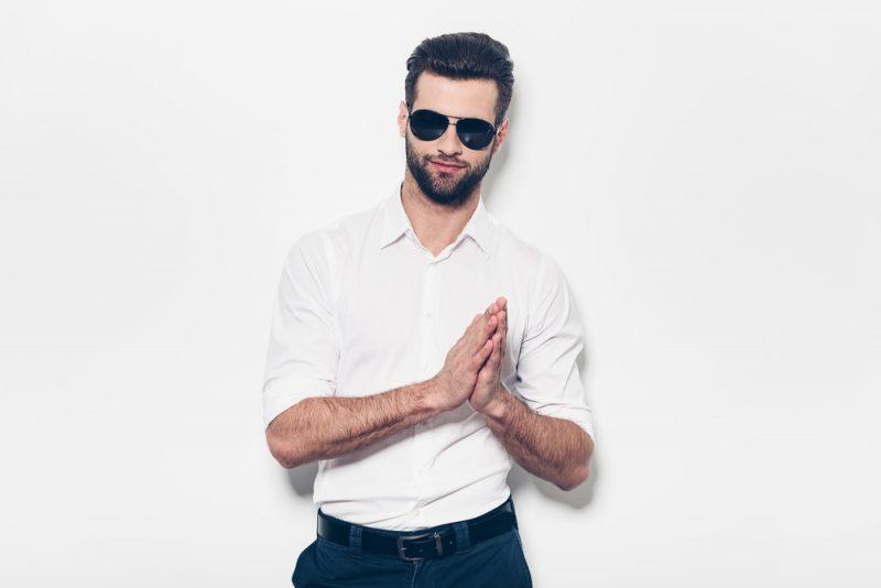 Man in White Dress Shirt