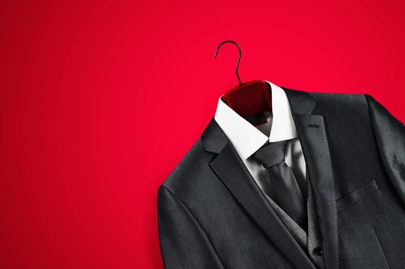 Men's Suit Red Backdrop