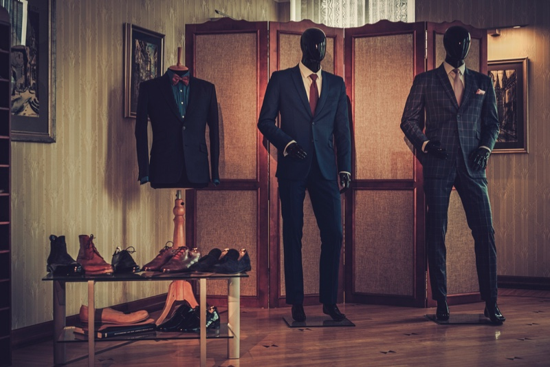 Men's Suits Mannequin Loafers Shoes