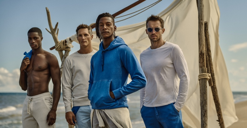 Andrew, Ollie, Ty & James Make a Splash in Orlebar Brown Atlantic Collection