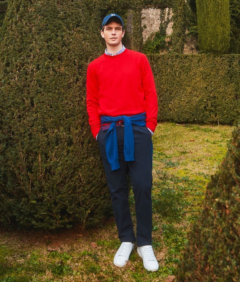 Making a case for preppy style, Benjamin Eidem stars in OVS Piombo's  spring-summer 2021 campaign.
