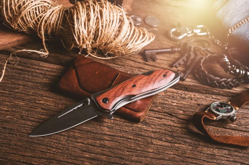 Pocket Knife Table Watch Keys
