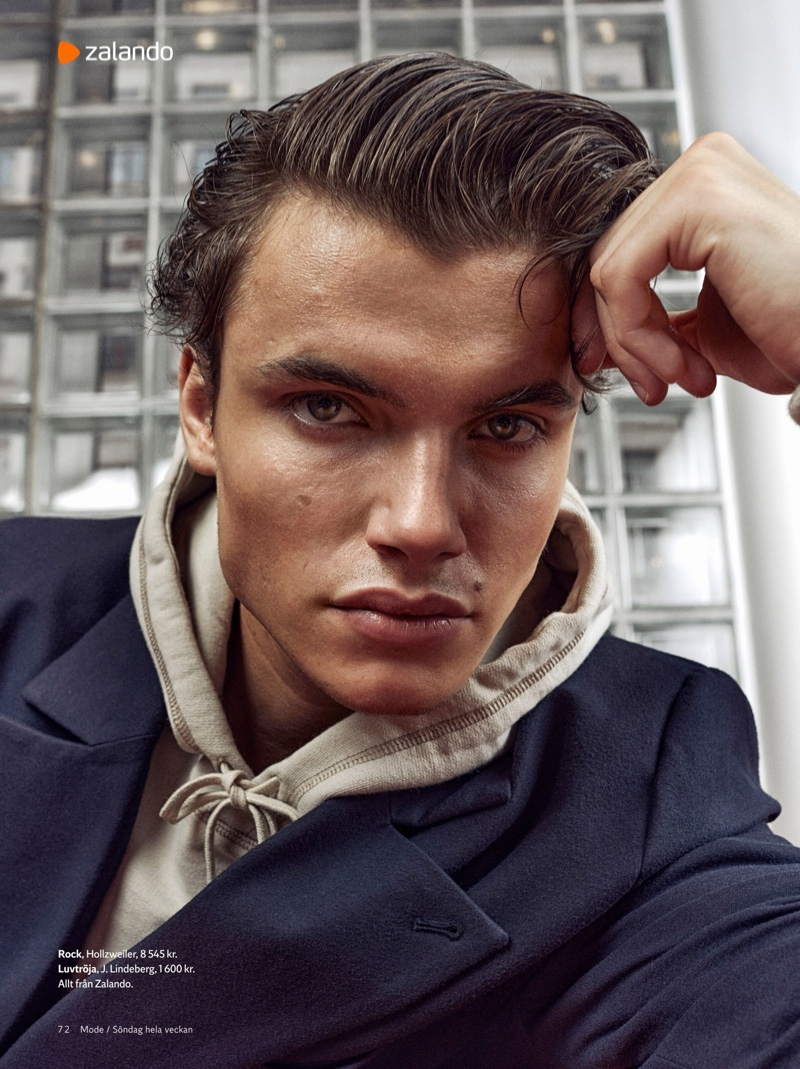 Simon is Sporty Chic for King Magazine