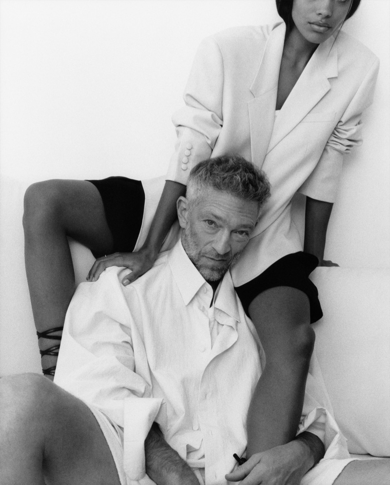 Laura Coulson photographs Vincent Cassel and Tina Kunakey for The Kooples' spring-summer 2021 campaign.