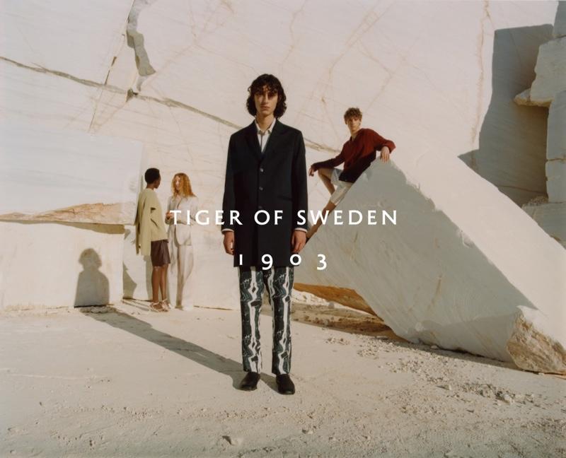 Stefan Dotter photographs Tiger of Sweden's spring-summer 2021 campaign.
