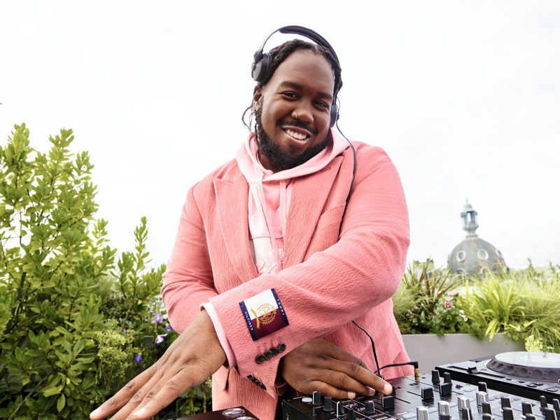 DJ and singer Kiddy Smile stars in Tommy Hilfiger's spring 2021 campaign.