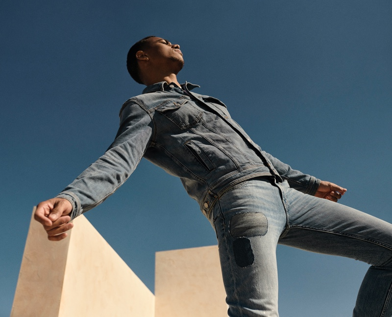 7 For All Mankind enlists Keith Powers as the star of its spring-summer 2021 men's campaign.