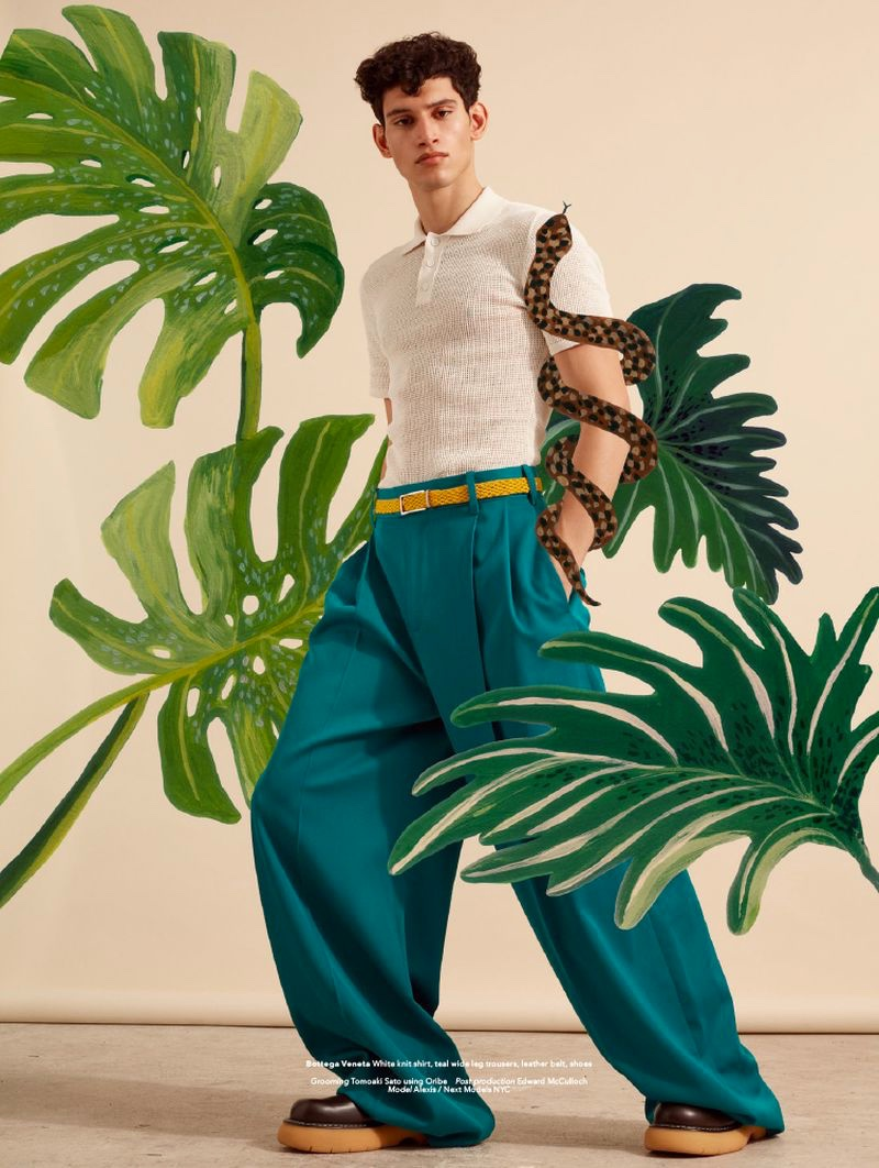 Alexis Has Spring Fever for Men's Folio Singapore